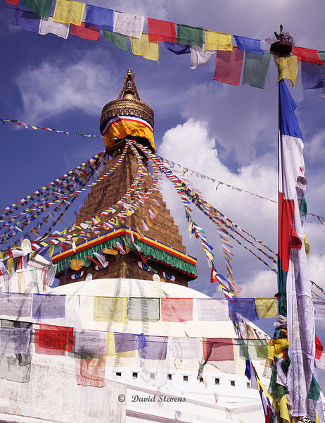 42 Bodhnath Temple prayer flags