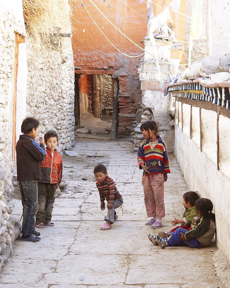 Kid's Games Kagbeni, Nepal