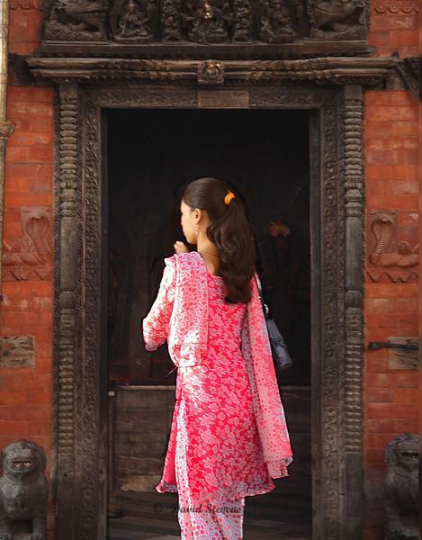 Young Woman Temple door18