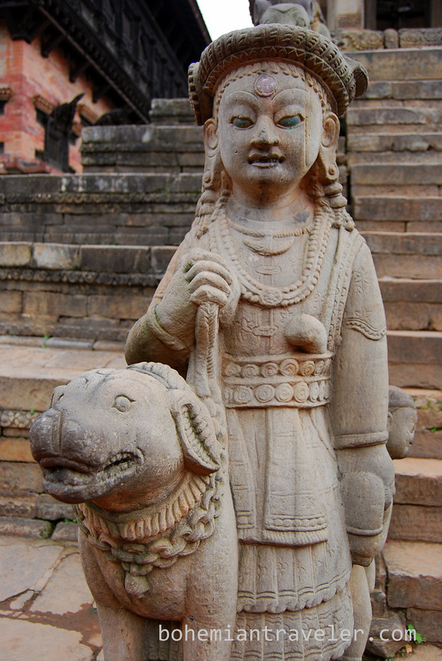 Detail at Bhaktapur Durbar Square.