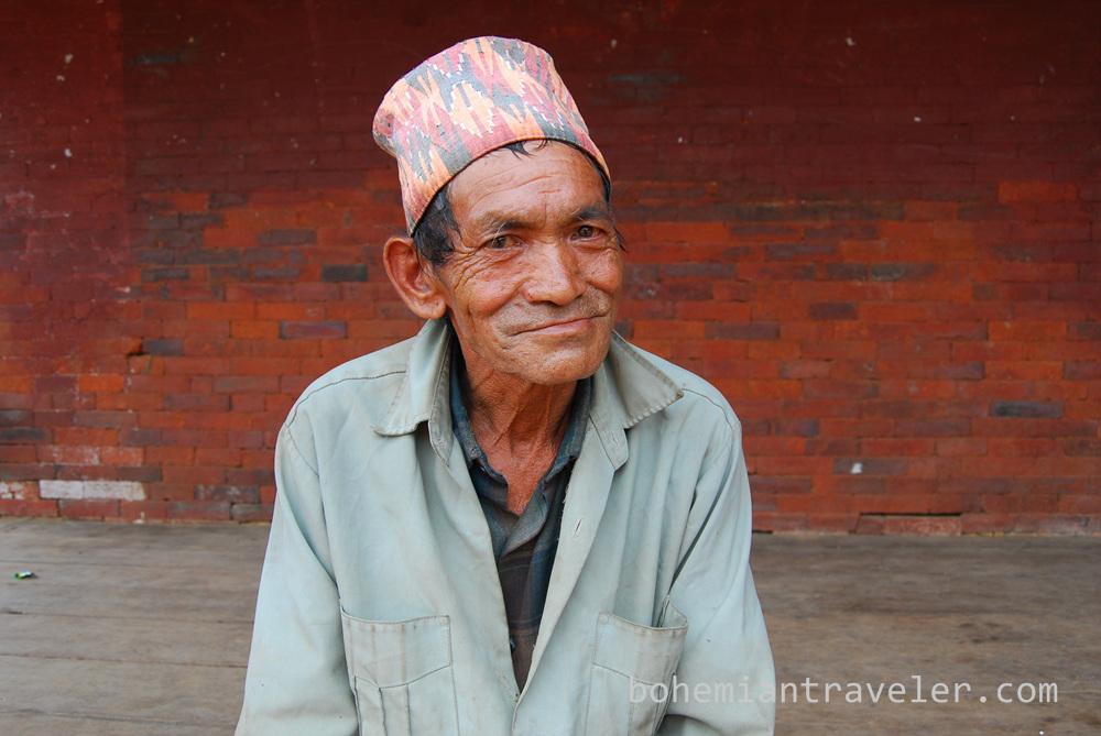 Man in Bhaktapur Nepal.