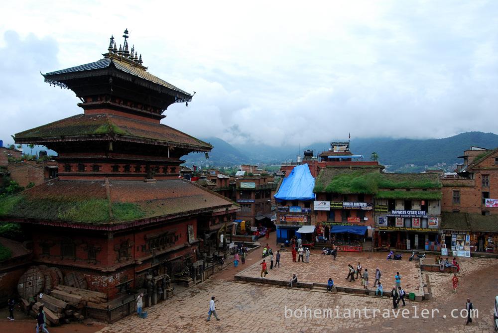 Taumadhi Tole in Bhaktapur, Nepal.
