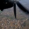 Outskirts of Kathmandu just after takeoff.