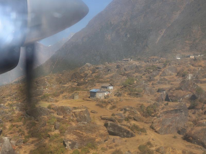 Just before landing in Lukla.
