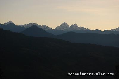 Sunrise from Kutumsang Nepal.