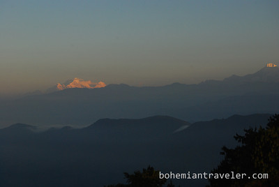 sunrise from Chisapani, Nepal.