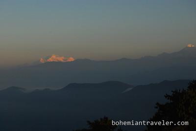 sunrise from Chisapani, Nepal.