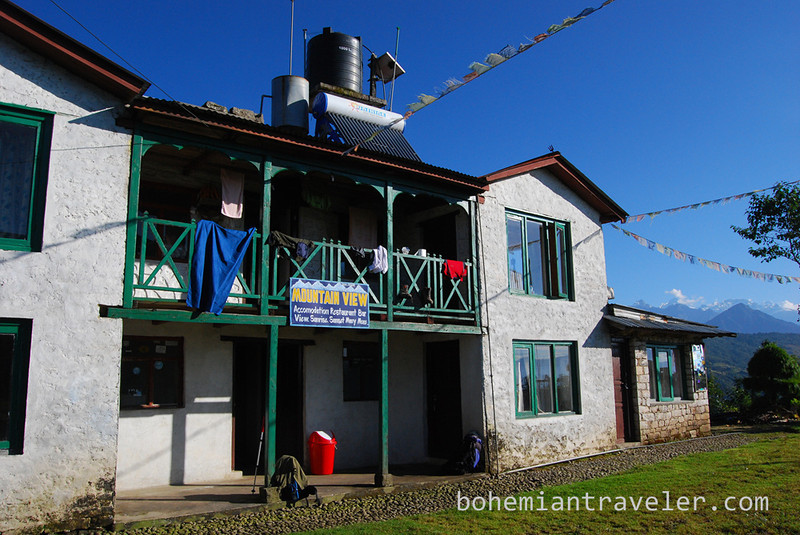 Mountain View tea house in Kutumsang, Nepal.