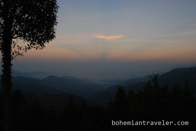 view from Kutumsang Nepal.