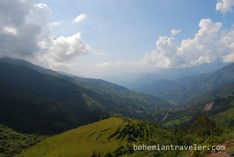 View along the Helambu Trek.