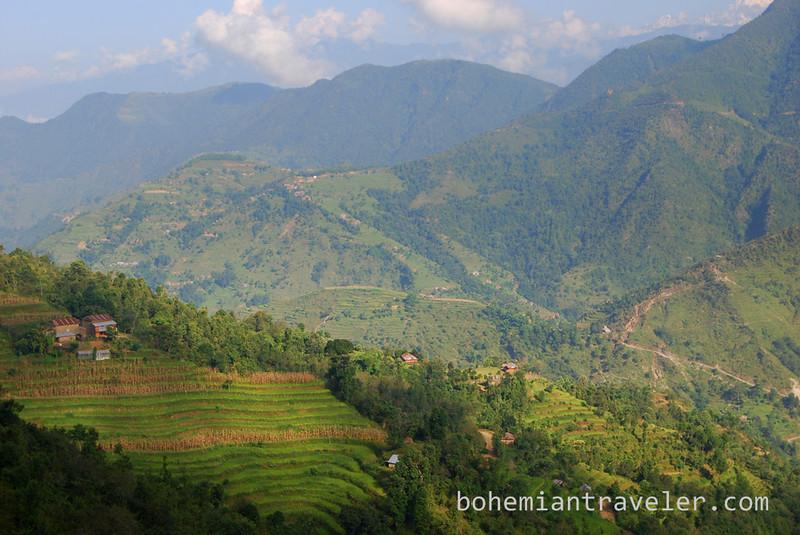 View along the Helambu Trek.