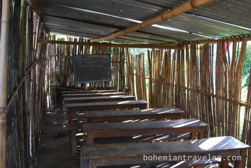 A rural school room in Nepal.