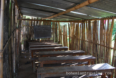 A rural school room in Nepal.