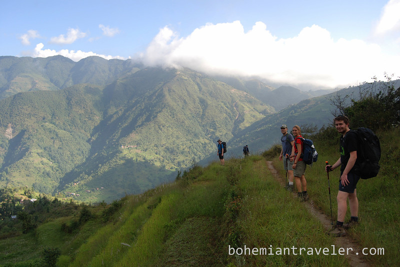 Hiking the Helambu Trek.