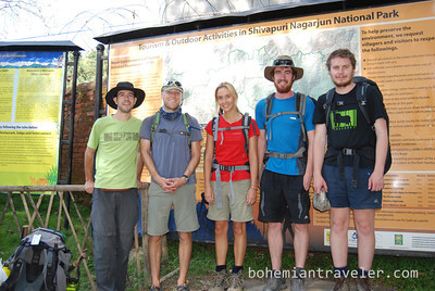 our group at the start of the tour.