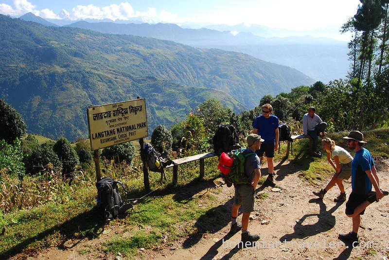 Entering Langtang National Park.