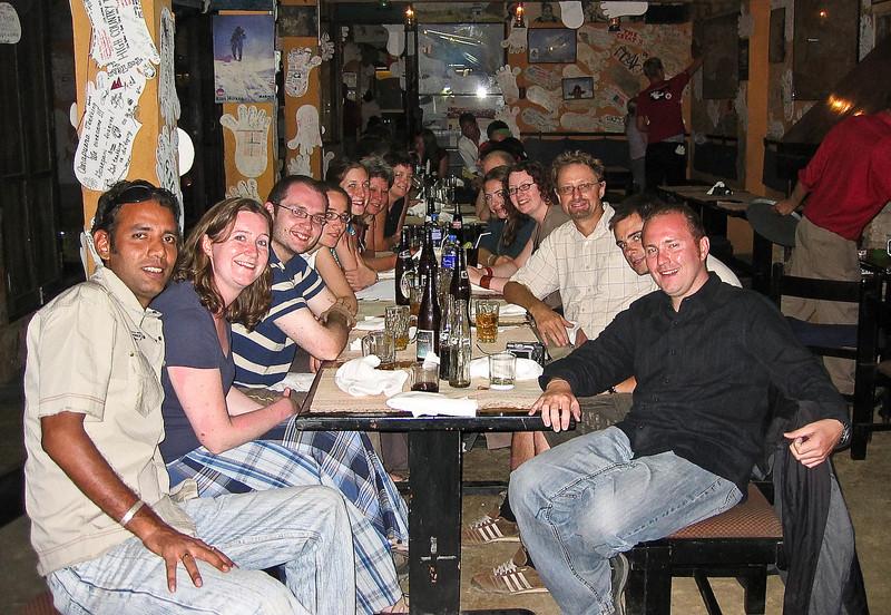 Last night together at Rumdoodle restaurant in Kathmandu.