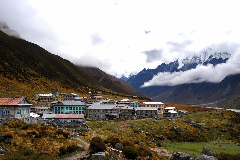 Kyanjin Gumba. Trekking in Nepal