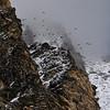 Birds circling the cliffs above Dragnag.