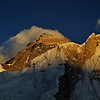 Sunset on Everest from Kala Pattar.