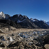 Looking south from Gorak Shep along the Khumbu Glacier.