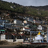 Arriving in Namche Bazaar. Namche is the main town in the Khumbu region.