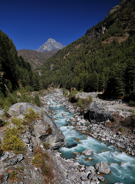 The Dudh Kosi (Milk) River.