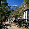 Passing lodges on the way to Namche Bazaar.