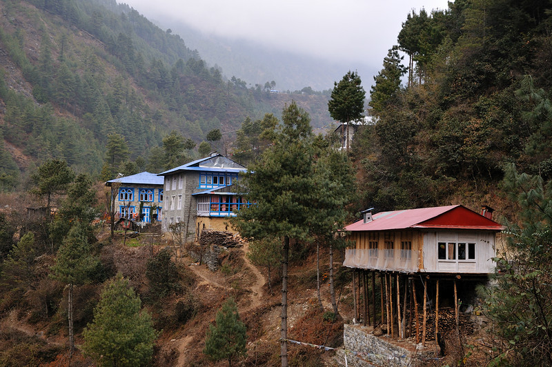Buildings in the Dudh Kosi valley.