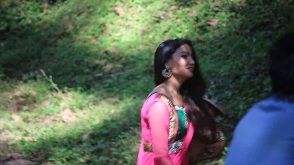 Nepali film crew at the Royal Botanic Park