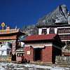 Tengboche Monastery. This has been rebuilt since a fire destroyed the old monastery in 1990.