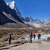 Small people in a big landscape.  The Khumbu valley just north of Periche.