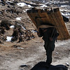 Transporting building materials in the Khumbu valley.