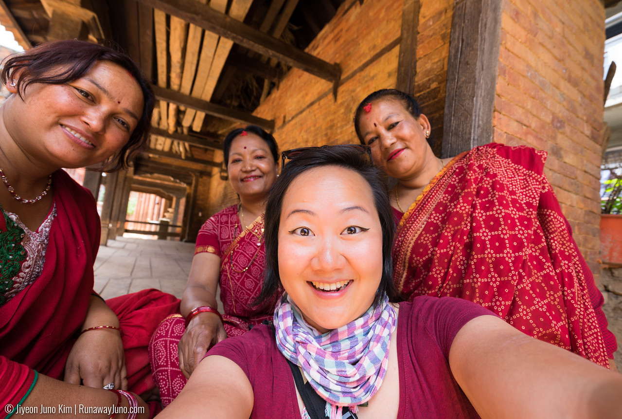 Spending time with fellow sisters in Paunati, Nepal