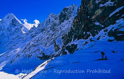 Climbing, Khumbu region, Nepal