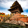 Bhaktapur Temple with reconstruction from the devastating 2015 earthquake.  Marvelous progress!