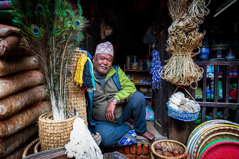 Vendor in Bhaktapur Durbar Square