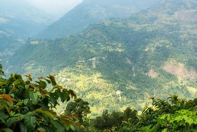 Steep Valleys Off of Various Annapurna Mountains