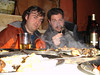 At the Antique Restaurant in Kathmandu. On my toothpick is a bit of BBQ sheep brain. And yeah, it was really tasty.