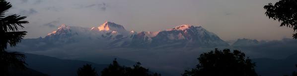 Dawn Glow on Annapurna Range