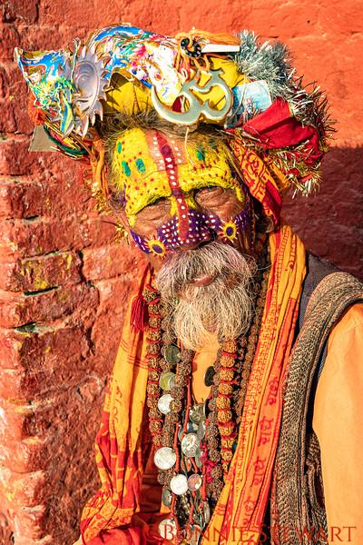 Holy Man at the Pashupatinath Temple in Kathmandu