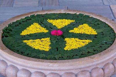 Gokarna Forest Lodge Flower Sculpture