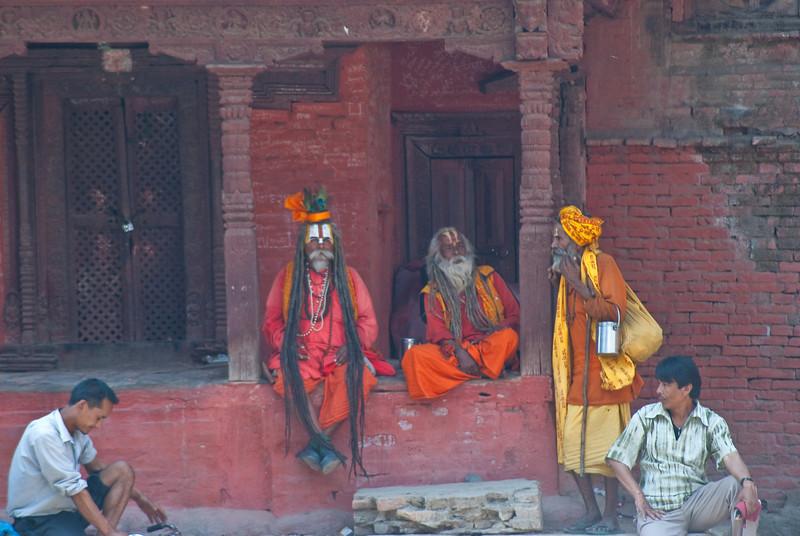 Sadhus in Kathmandu