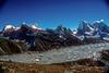 Left to right Everest, Nuptse,Lohotse, Lohotse Shar, Jobo Lhaptshan, Makalu, Taboche, Amphu Labtsa,, Amai Dablang. Kumbu, Nepal