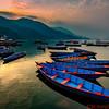 Boats in Lake Fewa in Pokhara
