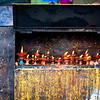 Prayer candles at the Monkey Temple in Kathmandu