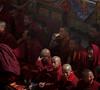 Monk drinking Red Bull - energy lift needed?