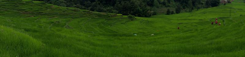 Panoramic view of the Kali Gandaki lands