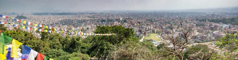 View of Khatmandu from Swayambhunath Stupa