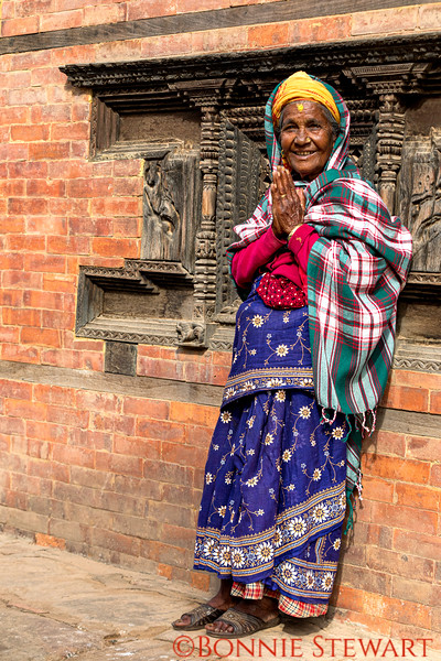 Prayer lady in Durbar Square